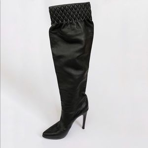 Casadei Black Quilted Platform Boots
